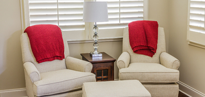 white shutters complement any room