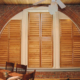 Arched Windows can be covered with custom shutters from Marco Shutters.