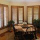 Custom Indoor Plantation Shutters Stained to Match Your Decor