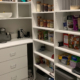 Marco Closets created this barista's pantry