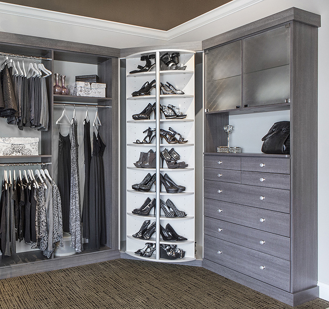 Marco Closets is the exclusive distributor for the 360-degree organizer