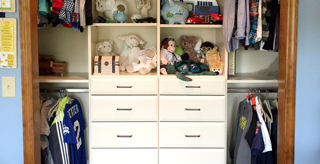 Kids' Closets can be easily customized