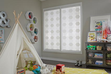 Patterned Shades Add Texture and Interest