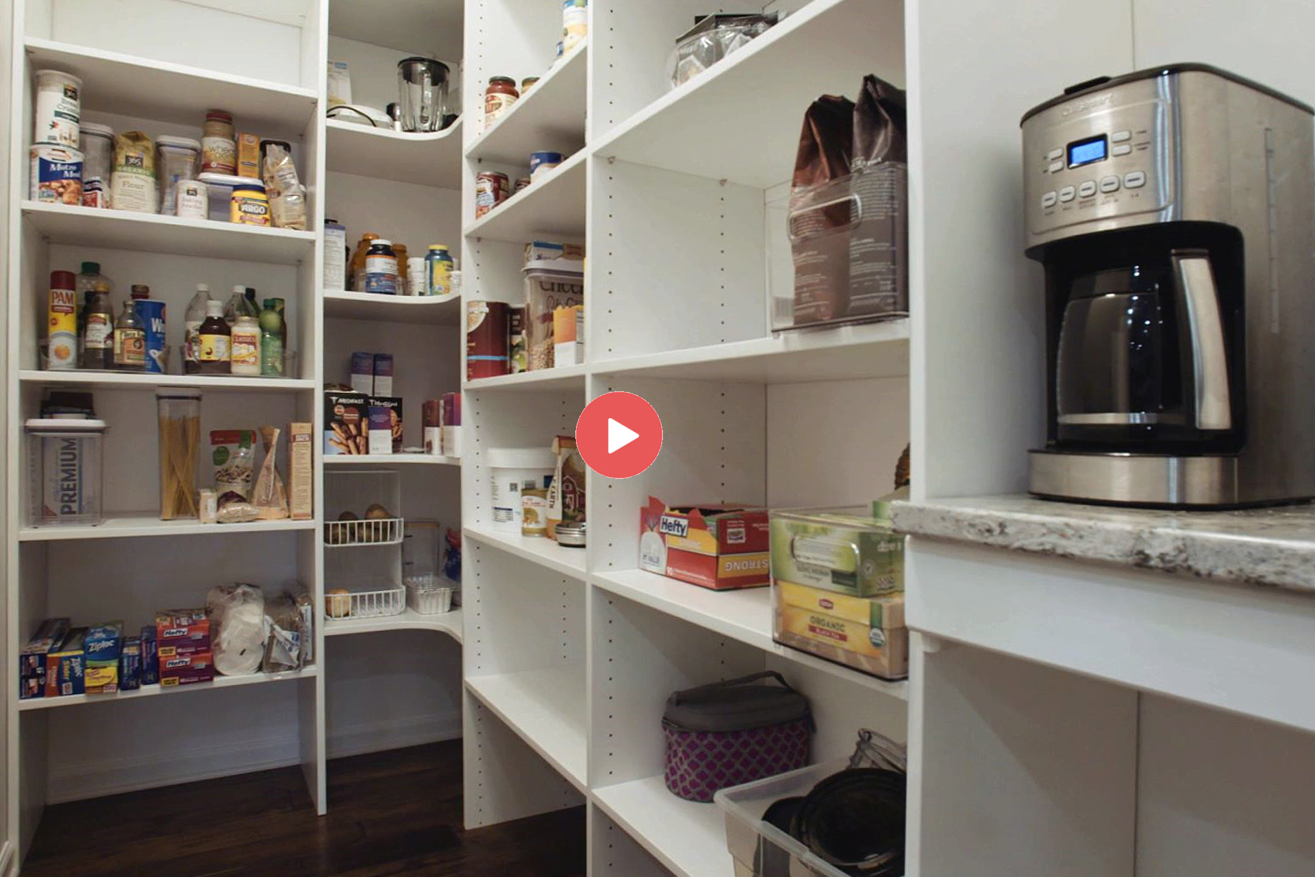 Beautiful Pantry After Marco Makeover
