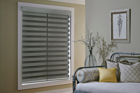Allure roller shade in closed position