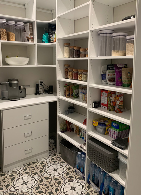Marco Closets Made This Barista's Pantry