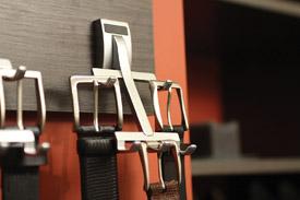 belt organizer for the gentleman's closet