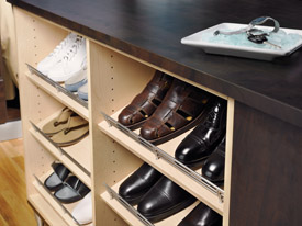 closet shoe rack for the gentleman's closet